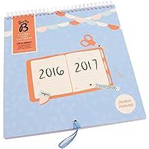 Busy B - Calendario escolar mensual, año 2016/2017, con bolsillo para cada mes