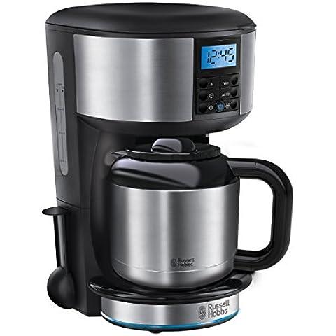 Russell Hobbs 20690-56 Buckingham - Cafetera digital, jarra térmica con capacidad de 1,1 l, prepara 8 tazas grandes