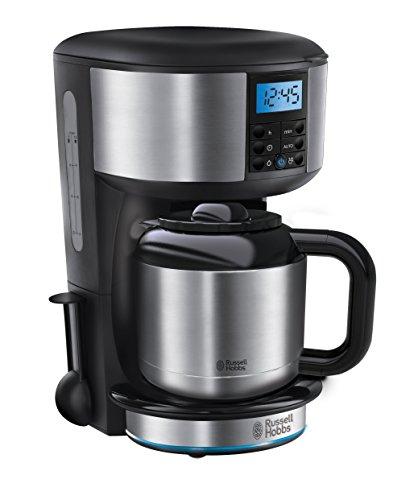 Russell Hobbs Buckingham 20690-56 Digitale Thermo-Kaffeemaschine mit Brausekopf-Technologie silber / schwarz