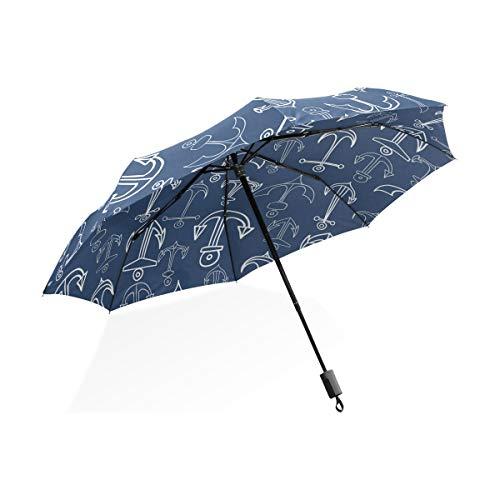 ISAOA Automatischer Reise-Regenschirm,kompakt,faltbar,Mode-niedliches stilvolles personalisiert,Winddicht Stockschirm,Ultraleicht,UV-Schutz,Regenschirm für