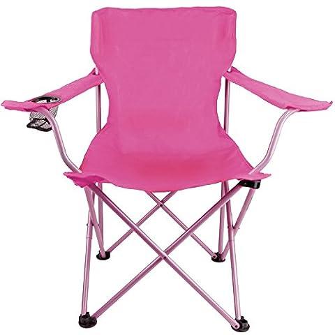 Iris Folding Beach Chair with Carry Bag (Pink)