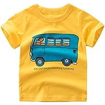Reborn Bebe, Zolimx Bebé Niños Camisetas Dibujos Animados Autobús Imprimir Tops Trajes ...
