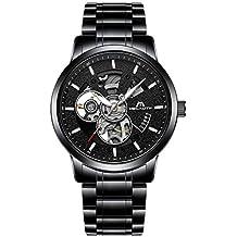 683dd0104e13 Relojes Hombre Reloj Mecánico Automático Deportes Impermeable Oro Esqueleto  Lujo Diseño Relojes de Pulsera de Acero