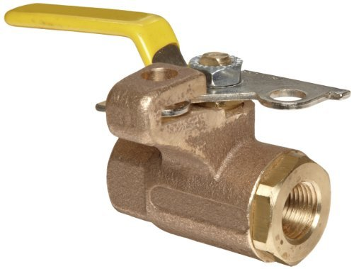 Apollo 75-100 Series Bronze Ball Valve, Two Piece, Inline, Lockable Lever, 3/4 NPT Female by Apollo Valve - Series Ball Valve