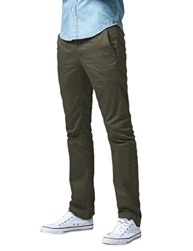 Match Herren Slim Straight Casual Hose #8036 8036 Celadon