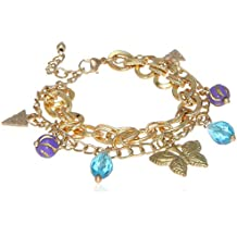 MiTy MaTy Gold Plated Charm Detailing Chain Bracelet