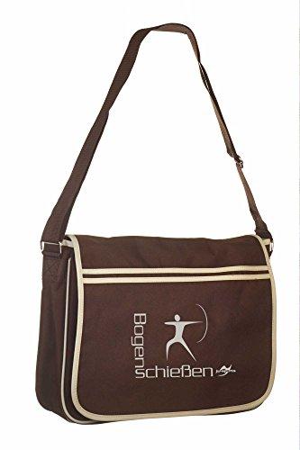 Retro Messenger Bag BG71 gold/schwarz Bogenschießen