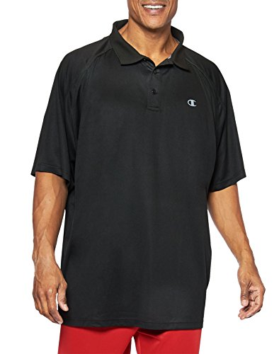 Champion Big & Tall Men's Performance Birdseye Polo - Red (Red Birdseye-performance-polo)