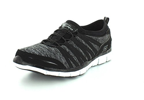 Skechers Gratis shake-it-off, Baskets Basses femme noir 1