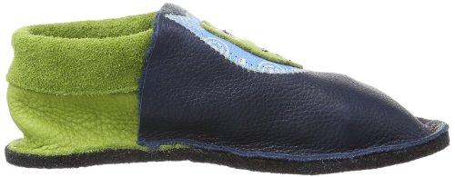 Pololo Kiga Eulalia Unisex-Kinder Flache Hausschuhe Blau (tobago/Pistazie 416)