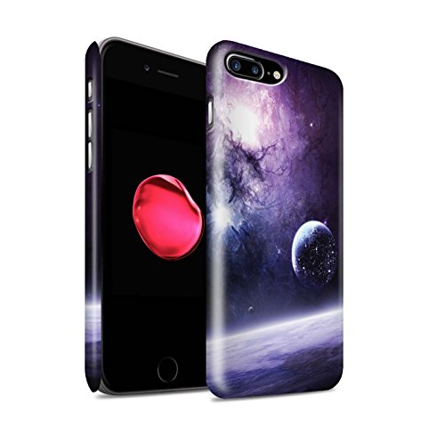 Offiziell Chris Cold Hülle / Matte Snap-On Case für Apple iPhone 8 Plus / Pack 12pcs Muster / Fremden Welt Kosmos Kollektion Planet/Mond