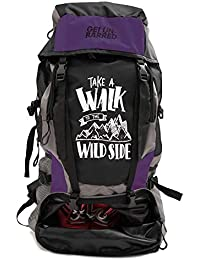 1de843ab7a9 Mufubu Presents Get Unbarred 55 LTR Rucksack for Trekking, Hiking with Shoe  Compartment - Black