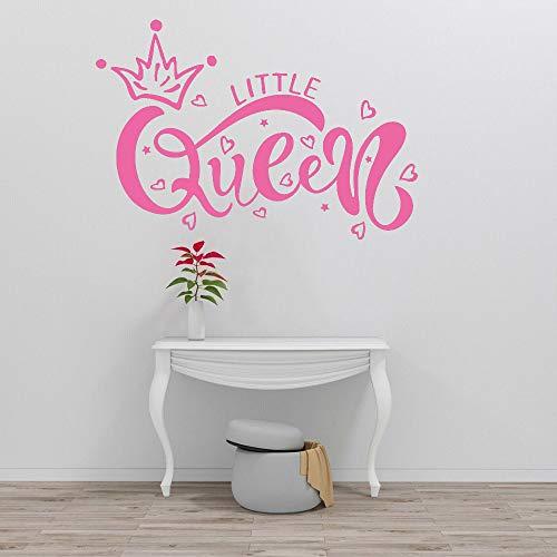 YuanMinglu Süße kleine Königin Baby Kinderzimmer Schlafzimmer Krone Wandaufkleber Schlafzimmer Modern Home Decor Pink 42x60cm