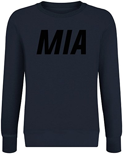 Mia Sweatshirt Jumper Pullover for Men & Women Soft Cotton & Polyester Blend Unisex Clothing Large Mia Womens Sweatshirt