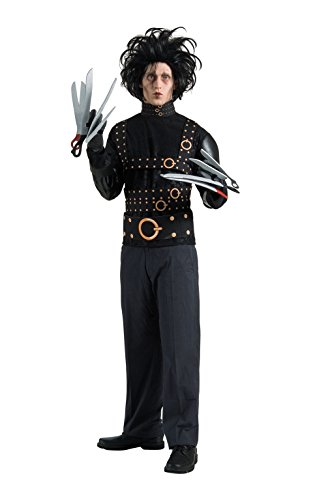 Rubie's Official Rubie's Official Adult's Edward Scissorhands Halloween Costume - Medium, Black