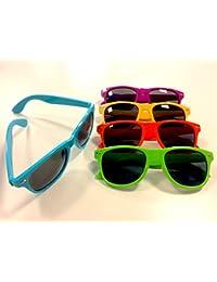 Générique Lot de 25 lunettes de soleil UV400, style mixte, modèle Wayfarer en assortiment de 5 couleurs