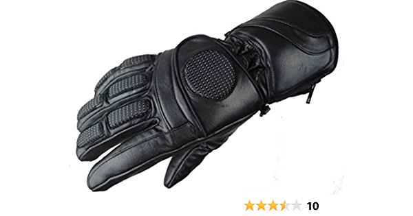 Ledershop Online Bangla 6000 Winter Motorradhandschuh Biker Softtouch Leder Gefüttert Schwarz Bekleidung