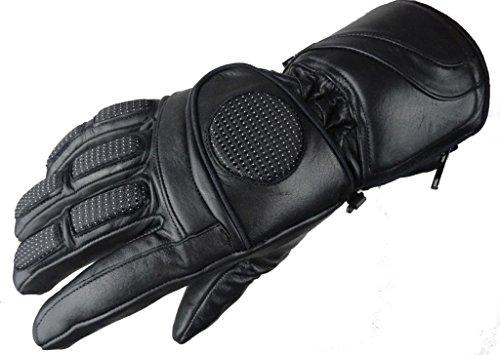 6000 Bangla Winter Motorrad Handschuh aus Softtouch Leder Schwarz XXL