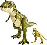 Jurassic World- Legacy Elite Collezione Tyrannosaurus Rex Cucciolo, Due Dinosauri, Giocattolo 3+ Anni, GCT98