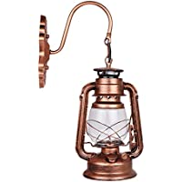 ONEVER Wall Light antico dell'annata Edison Oil Lamp Barn Red Lantern rame luce della navata laterale decorativo con E27 presa di corrente alternata 110-220V, Lampada non