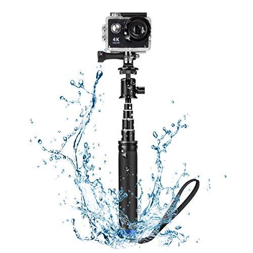 Especificación General: Marca: BlitzWolf Modelo: BW-BS0 Color: Negro Longitud del Palo: 71cm(máxima)  18.9cm(mini) Peso (g): 161.4g Peso Máximo de Carga: 500g El paquete incluye: 1 * BW-BS0 palo selfie cámara deportiva con 1/4''...