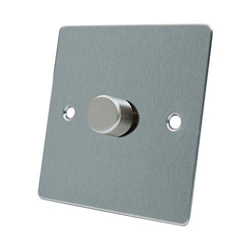 Chrome Light Switch (AET FSC1GDIM10 10 A 1000 W 1-Gang 2-Way Satin Chrome Flat Light Dimmer Switch by AET)