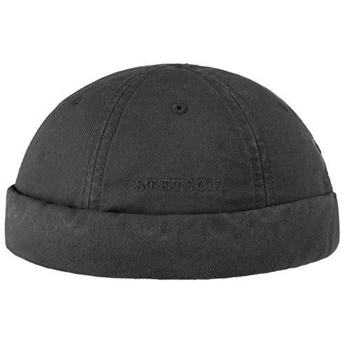 Stetson Stetson Ocala Baumwoll Dockercap Herren | Dockermütze aus 100% Baumwolle | Mütze in S (54-55 cm) | Cap in Schwarz | Docker mit UV-Schutz 40