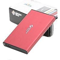(MasterStor 2 años de garantía)-USB 3.0 super-rápido portátil disco duro disco duro externo SATA de 2,5 pulgadas disco duro externa unidad de disco duro portátil (250 GB, Red)