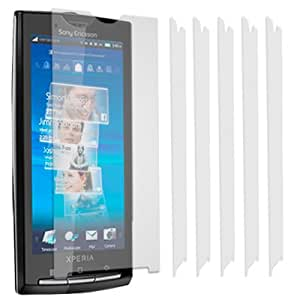 Screen Protectors for Sony Ericsson X10 (Pack of 6) With Cleaning Cloth