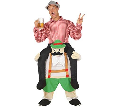 Bayer Huckepack Kostüm für Herren Oktoberfest Aufsitz Kostüm Carry Me Größe:L (Oktoberfest Kostüm Herren)