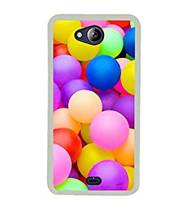 Colourful Balls 2D Hard Polycarbonate Designer Back Case Cover for Micromax Canvas Play Q355