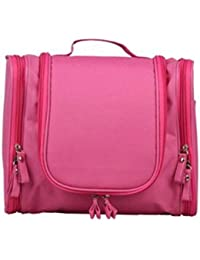 Generic PU Leather 10 X 8 Inch Pink Cosmetic Hand Bag