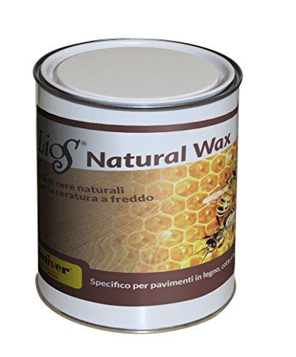 Chimiver cera per parquet, pavimenti in cotto e mobili. miscela a base di pregiate cere naturali e cere carnaube lios® natural wax | latta da 1 l.