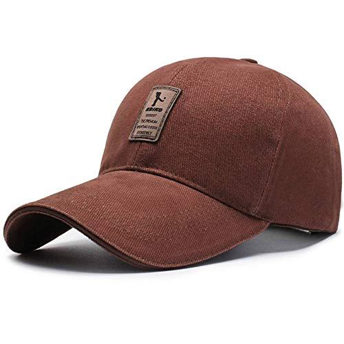 ZLJII Herren Golf Hut Basketball Caps Baumwolle CapsMänner Baseball Cap Hüte Für Männer Und Frauen Brief Cap,Deep Coffee -