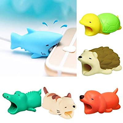 Ouneed_ Cable Animal Bite Cable Winder Organizer Protector, Cute New Animal Phone Accessory Cable Bite Iphone Cable cord Protects Works for iphone lightning cables or comparable cable
