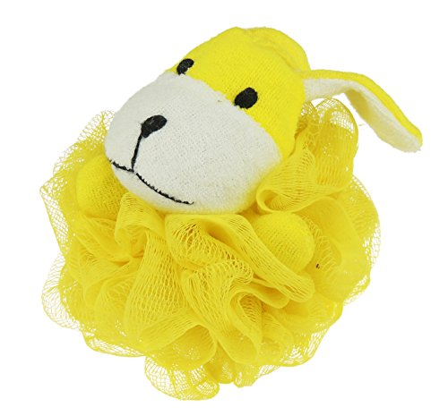 Jungen Girls Fun Bad Animal Face Bad Luffa Schwamm Gr. Einheitsgröße, Yellow Dog