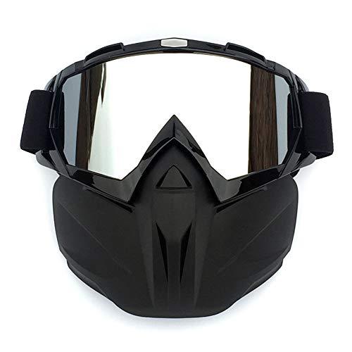 Dfghbn Rennbrille Dirt Bike Brille Outdoor Retro Brille Brille Reiten Off-Road-Motorrad-Rennbrille Maskenbrille Skibrille Radfahren Rennen Reiten Skibrille (Color : Bright Black) (Road-bikes Zum Verkauf)