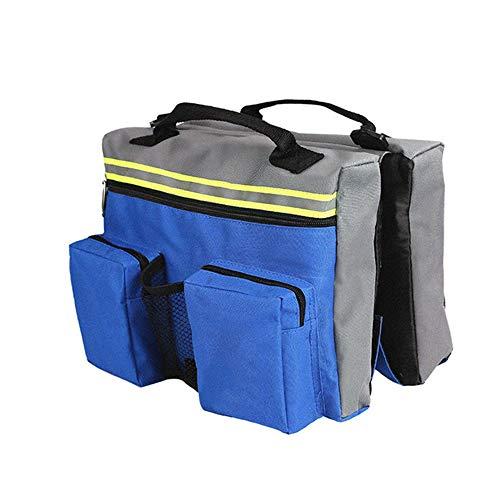 PETSUPPLY Reflektierende Sicherheit Verstellbare Satteltasche, Hunderucksack Pet Satteltasche Weste Harness, Outdoor Camping Travel Zubehör, Blau -