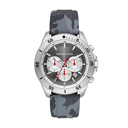 Michael Kors Herren Chronograph Quarz Uhr mit Silikon Armband MK8710