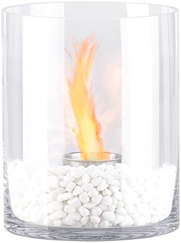 Carlo Milano Tischkamin: Glas-Dekofeuer Kasra für Bio-Ethanol (Deko-Feuer)