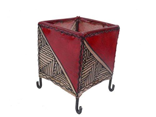 Orient Windlicht orientalische Kerzen Halter Teelicht Leder Henna Berber