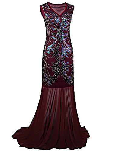 Vikoros Damen Cocktail Kleid, Paisley Gr. Etikette L, (80s Plus Size Fancy Dress)