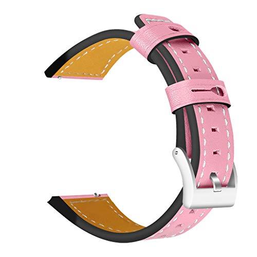 Austauschbarer Gurt für Fitbit Versa Leder mit Uhrarmband Edelstahlschnalle Armband klassischer für Herren und Damen mehrfarbiger Gurt Wuqy