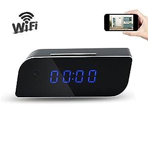 Mini Uhr Kamera UYIKOO Kleine Kamera HD 1080 P P2P Home Security Wlan Uhr Kamera Nachtsicht / Bewegungserkennung für IOS / Android Phone