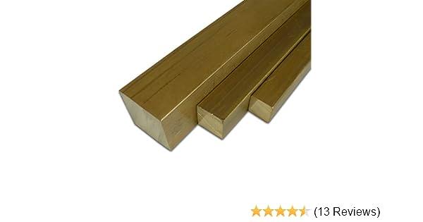 L/änge ca B/&T Metall Messing MS 58 Vierkantstangen 15x15 mm 500 mm +0//- 5 mm 50 cm