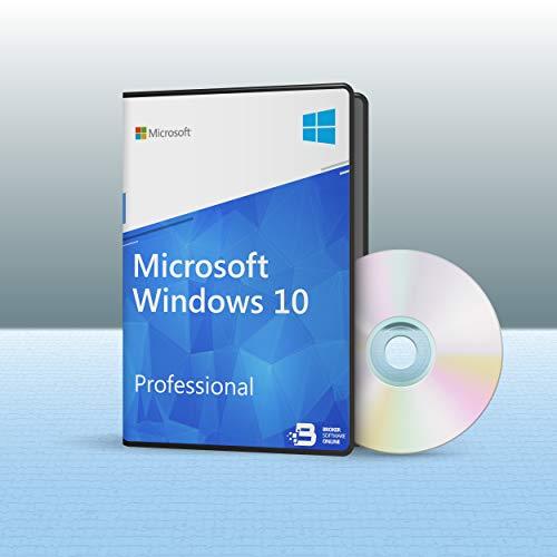 WINDOWS 10 PRO - Product Key Lizenz - Aufkleber + Installations DVD - 64 Bit Vollversion NEU