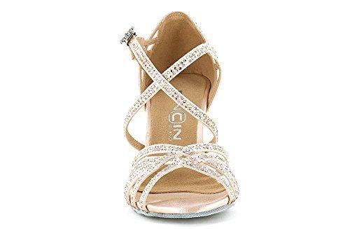 Dancin Scarpa da Ballo Limited Edition Veronica Arrais in Raso Rosa Cipria, Tacco 7,5 cm Rosa