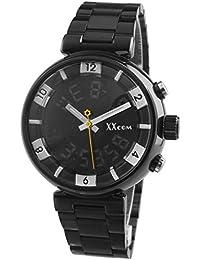 Alienwork XXcom Reloj Digital- Analógico Multi-función LCD Retroiluminación Metal negro negro QH-6031G-B