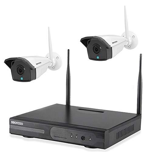 Komplettset WLAN-Set / 4-Kanal Netzwerkrekorder mit 2 x Full HD WLAN IP Überwachungskamera (Netzwerkkamera)