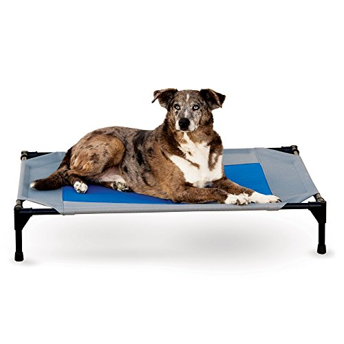 K&H Manufacturing Coolin' Pet Cot Medium Gray/Blue 25″ x 32″
